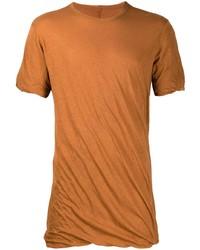 T-shirt à col rond tabac Rick Owens