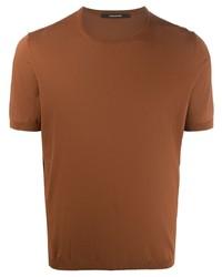 T-shirt à col rond tabac Tagliatore