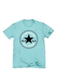 T-shirt à col rond turquoise Converse