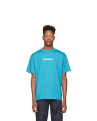 T-shirt à col rond turquoise Vetements