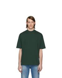 T-shirt à col rond vert foncé Balenciaga