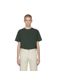 T-shirt à col rond vert foncé Bottega Veneta