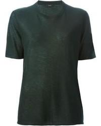T-shirt à col rond vert foncé Joseph
