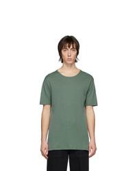 T-shirt à col rond vert foncé Lemaire