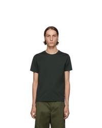 T-shirt à col rond vert foncé Prada