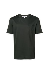 T-shirt à col rond vert foncé Salvatore Ferragamo