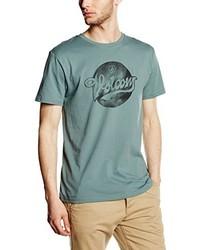 T-shirt à col rond vert foncé