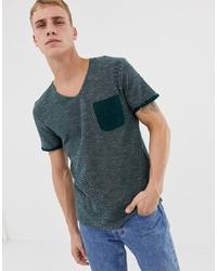 T-shirt à col rond vert foncé Tom Tailor