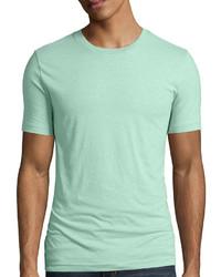 T-shirt à col rond vert menthe