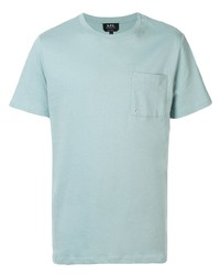 T-shirt à col rond vert menthe A.P.C.