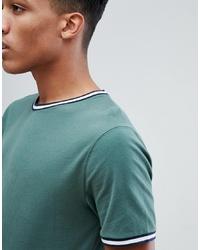 T-shirt à col rond vert menthe Abercrombie & Fitch