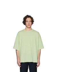 T-shirt à col rond vert menthe Dries Van Noten
