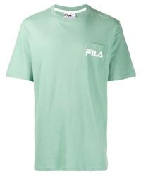 T-shirt à col rond vert menthe Fila
