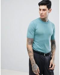 T-shirt à col rond vert menthe Gianni Feraud