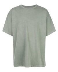 T-shirt à col rond vert menthe John Elliott