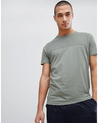 T-shirt à col rond vert menthe Selected Homme