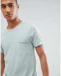 T-shirt à col rond vert menthe Tom Tailor