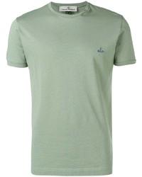 T-shirt à col rond vert menthe Vivienne Westwood