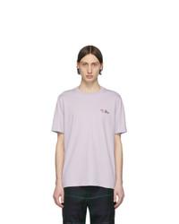 T-shirt à col rond violet clair Paul Smith