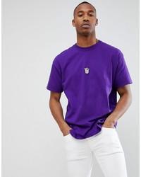 T-shirt à col rond violet
