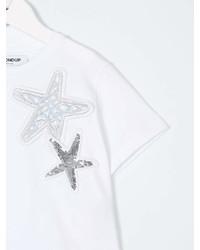 T-shirt à étoiles blanc