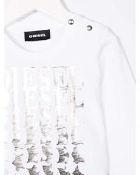 T-shirt à étoiles blanc Diesel