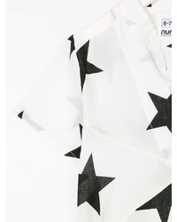 T-shirt à étoiles blanc Nununu