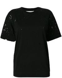 T-shirt à étoiles noir Stella McCartney