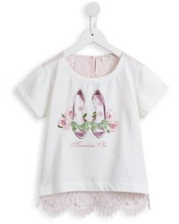 T-shirt à fleurs beige MonnaLisa