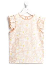 T-shirt à fleurs beige Stella McCartney