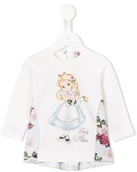 T-shirt à fleurs blanc MonnaLisa