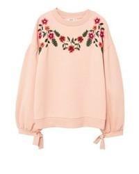 T-shirt à manche longue à fleurs rose Mango