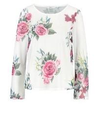 T-shirt à manche longue à fleurs rose Only