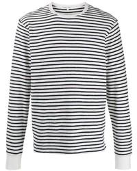 T-shirt à manche longue à rayures horizontales blanc et noir Alex Mill