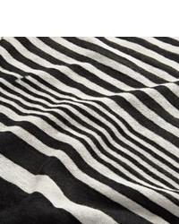 T-shirt à manche longue à rayures horizontales blanc et noir Haider Ackermann