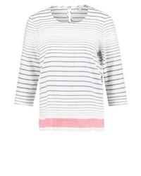 T-shirt à manche longue à rayures horizontales blanc Esprit