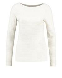 T-shirt à manche longue à rayures horizontales blanc Gap