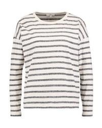 T-shirt à manche longue à rayures horizontales blanc Lee