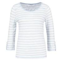 T-shirt à manche longue à rayures horizontales blanc Only