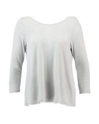 T-shirt à manche longue à rayures horizontales blanc Tom Tailor