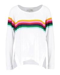 T-shirt à manche longue à rayures horizontales blanc True Religion