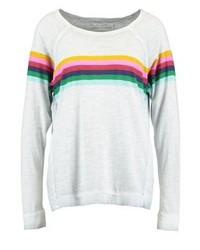 T-shirt à manche longue à rayures horizontales bleu clair True Religion