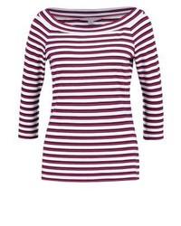 T-shirt à manche longue à rayures horizontales bordeaux Comma