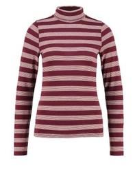 T-shirt à manche longue à rayures horizontales bordeaux Hollister Co.