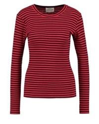 T-shirt à manche longue à rayures horizontales bordeaux Mads Nørgaard
