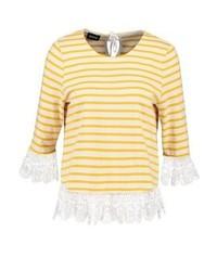 T-shirt à manche longue à rayures horizontales jaune Kookai