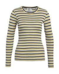 T-shirt à manche longue à rayures horizontales jaune Mads Nørgaard