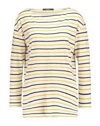 T-shirt à manche longue à rayures horizontales jaune Pepe Jeans