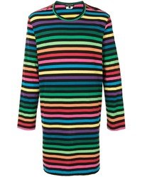 T-shirt à manche longue à rayures horizontales multicolore Comme Des Garcons Homme Plus