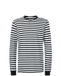 T-shirt à manche longue à rayures horizontales noir et blanc Golden Goose Deluxe Brand